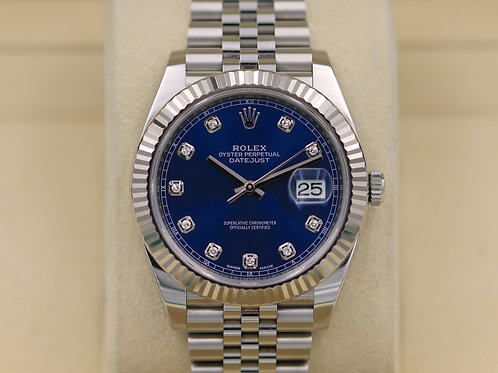 Rolex DateJust 41 126334 Blue Diamond Dial Jubilee - 2017 Box & Papers