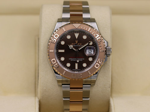 Rolex YachtMaster 116621 Two Tone Rose Gold Chocolate Dial - 2019 Complete