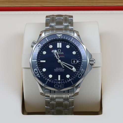 Omega Seamaster Diver Blue Ceramic 300m 212.30.41.20.03.001 SS 41mm - 2017 NEW!