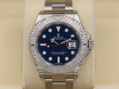 Rolex Yacht-Master 116622 Blue Dial SS Platinum Bezel -  Box & Papers!