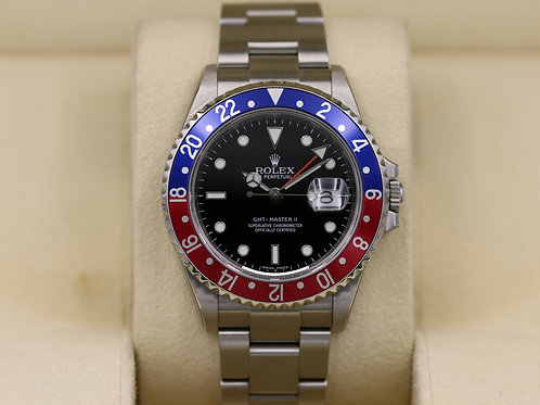 Rolex GMT Master II 16710B Pepsi 3186 Movement - Box & Papers NOS