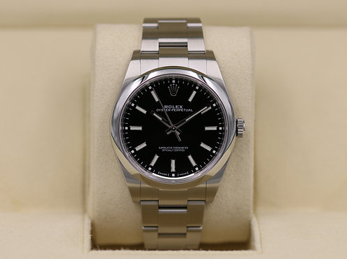 Rolex Oyster Perpetual 114300 Black Dial 39mm - 2019 Box & Papers