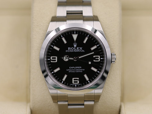 Rolex Explorer I 214270 39mm Full Lume Dial Stainless - 2018 Box & Papers