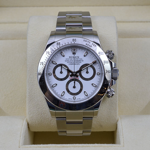 Rolex Daytona 116520 White Dial - Discontinued - 2014 Box & Papers
