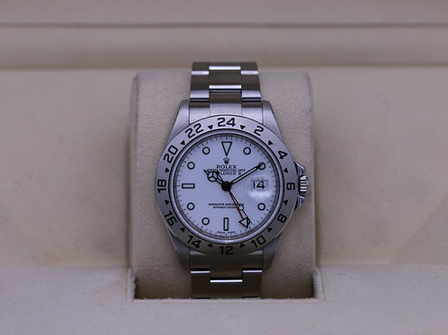 Rolex Explorer II 16570 White Dial M Serial 3186 Movement - Box & Papers