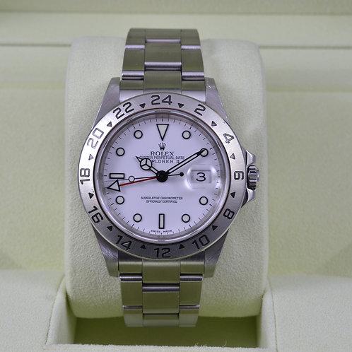 Rolex Explorer II 16570 White Dial - Y Serial
