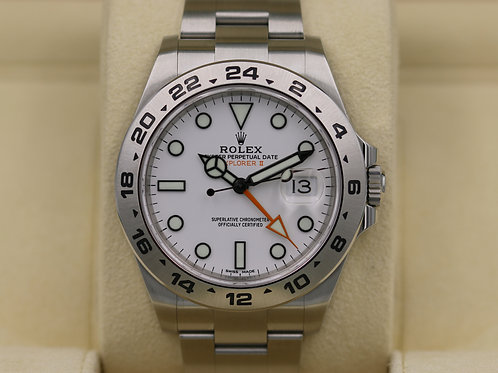Rolex Explorer II 216570 White Dial Polar 42mm Stainless - 2017 Box & Papers!