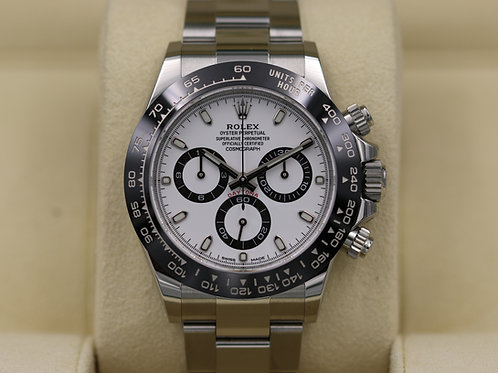 Rolex Daytona 116500 Ceramic White Dial Stainless Steel - 2018 Box & Papers