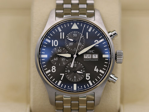 IWC Pilot's Chronograph Spitfire IW377719 Grey Dial 43mm - 2018 Box & Papers!