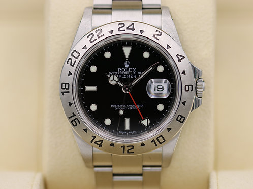 Rolex Explorer II 16570 Black Dial - 3186 Movmt Random Serial - Box & Papers