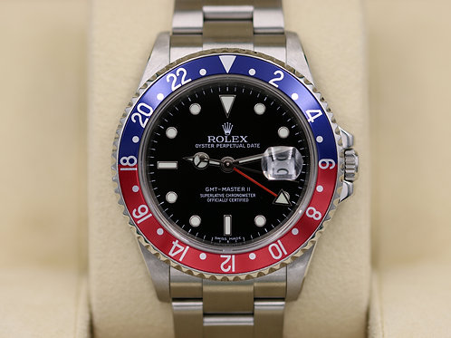Rolex GMT Master II 16710 Pepsi - 3186 Movement Stick Dial - Box & Papers