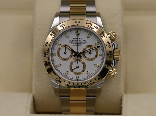 Rolex Daytona 116503 Two-Tone 18K Yellow Gold White Dial - 2018 Box & Papers