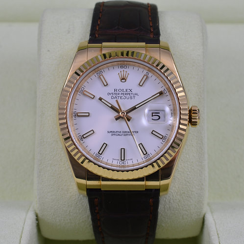Rolex DateJust 116138 18K Gold - Serviced - Box & Papers
