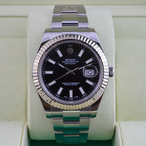 Rolex DateJust II 116334 Black Dial - Box & Papers
