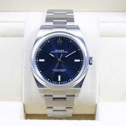 Rolex Oyster Perpetual 114300 Blue Dial 39mm - 2015 Box & Papers