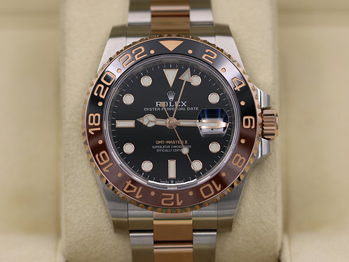 Rolex GMT-Master II 126711CHNR Steel/Rose Gold Root Beer - 2018 Box & Papers!
