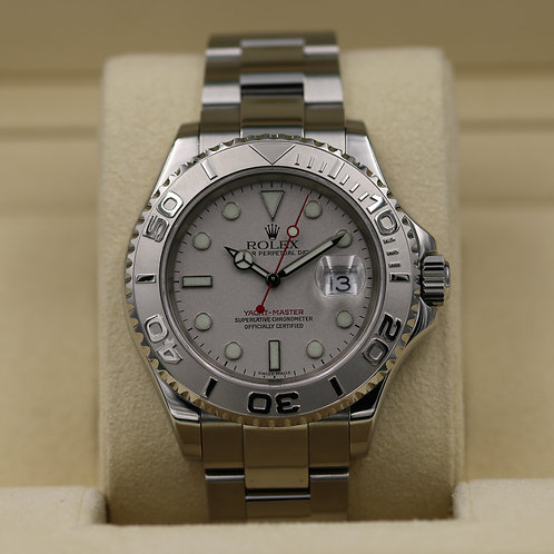 Rolex Yacht-Master 16622 Platinum Dial - K Serial Box & Papers