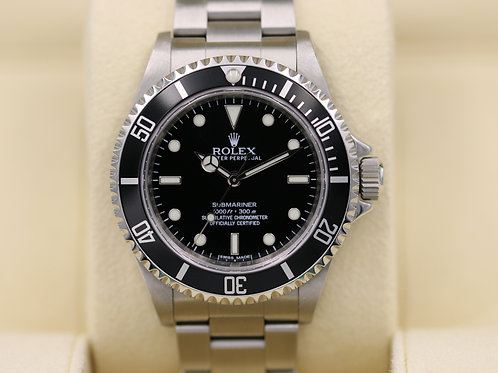 Rolex Submariner No Date 14060M - Random Serial 4 Liner - Box & Papers!