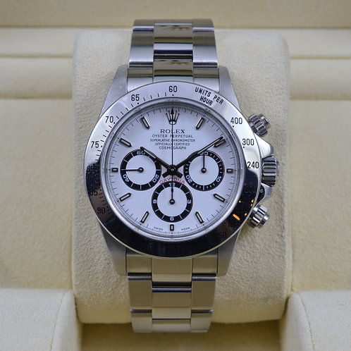Rolex Daytona 16520 Zenith White Dial - A Serial Box & Papers