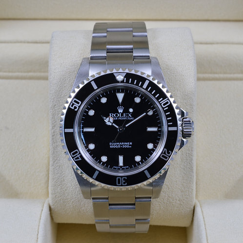 Rolex Submariner No Date 14060 - A Serial - Box & Papers