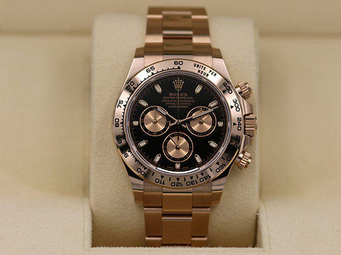 Rolex Daytona 116505 Rose Gold Black Dial - 2019 Box & Papers