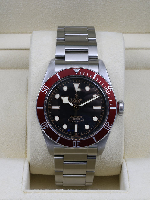 Tudor Heritage Black Bay Red 79220R Bracelet ETA - 2016 Box & Papers