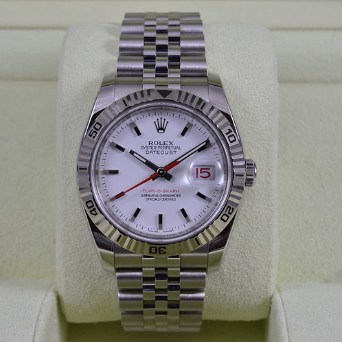 Rolex DateJust Turn-O-Graph 116264 White Dial - Box & Papers