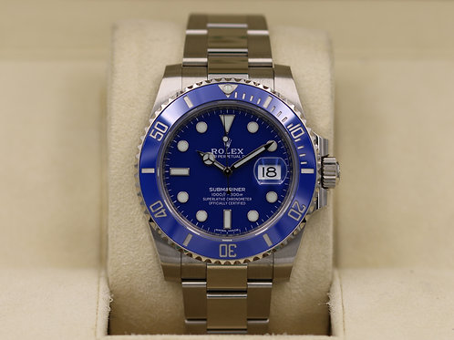 Rolex Submariner 116619 White Gold Blue Dial - 2019 Box & Papers