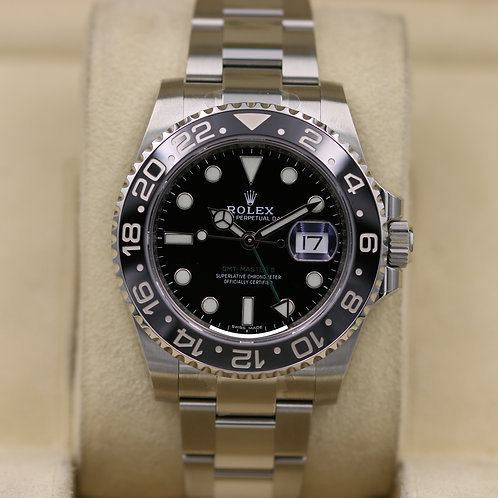 Rolex GMT Master II 116710LN Stainless - 2019 Box & Papers