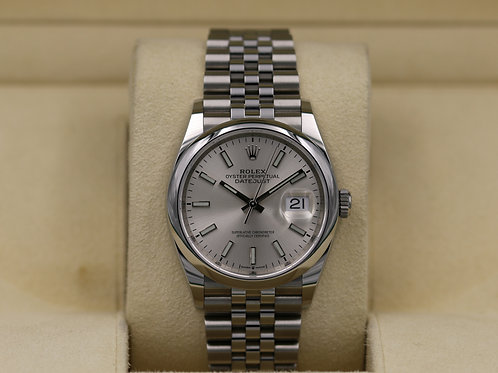 Rolex DateJust 36 126200 Jubille Silver Dial - 2019 Box & Paperss