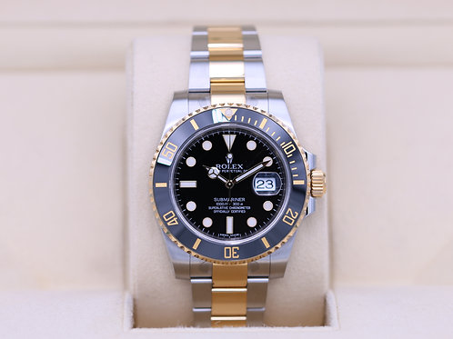 Rolex Submariner 116613LN Two Tone Black Dial - Box & Papers