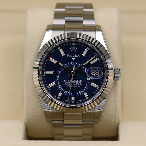 Rolex Sky-Dweller 326934 Steel/18K White Gold Blue Dial - 2017 Box & Papers