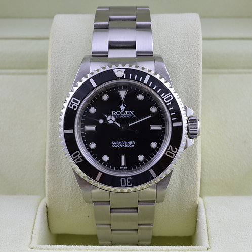 Rolex Submariner 14060 No Date - Box & Papers