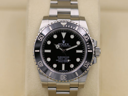 Rolex Submariner No Date 114060 Ceramic Stainless Steel - 2017 Box & Papers