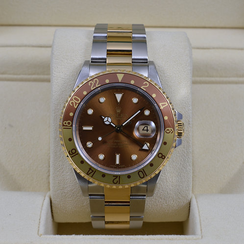 Rolex GMT Master II 16713 Root Beer - Box & Papers