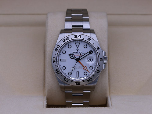 Rolex Explorer II 216570 White Dial 42mm Stainless - 2019 Box & Papers
