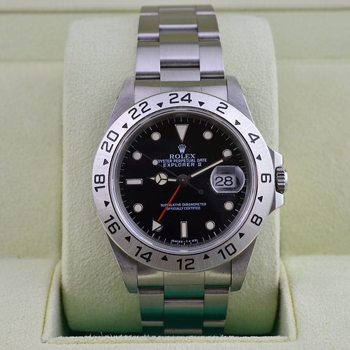 Rolex Explorer II 16570 Black Dial - Box and Papers