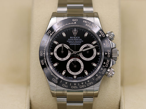 Rolex Daytona 116500 Ceramic Black Dial Stainless - Unworn 2017 Box & Papers