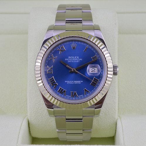 Rolex DateJust II 116334 Blue Roman Dial