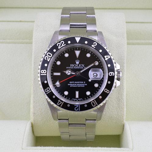 Rolex GMT Master II 16710 Black Bezel Box & Papers