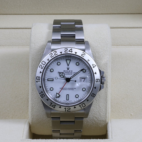 Rolex Explorer II 16570 White Dial - P Serial