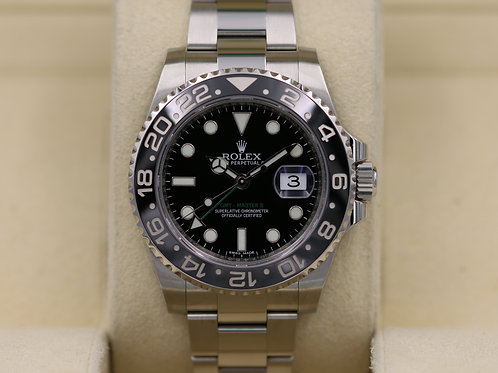 Rolex GMT-Master II 116710LN Black Ceramic Stainless - 2016 Box & Papers