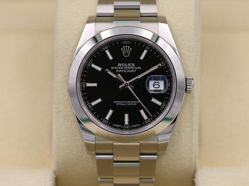Rolex DateJust 41 126300 Black Dial 41mm Stainless - 2017 Box & Papers