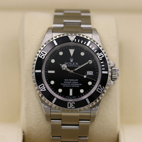 Rolex Sea-Dweller 16600 Stainless Steel - D Serial No Holes Case - Box & Papers