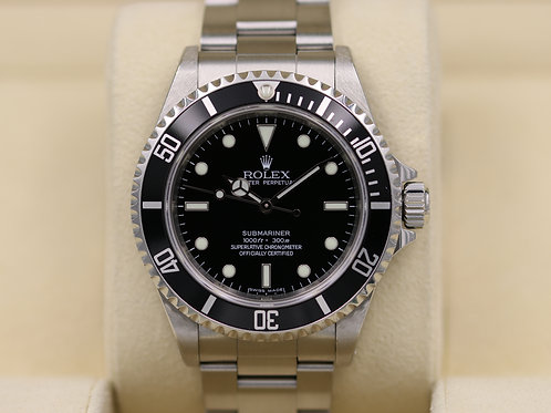 Rolex Submariner No Date 14060M - Z Serial 4 Liner Engraved - Box & Papers!