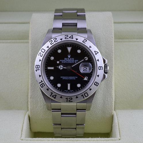 Rolex Explorer II 16570 Black Dial No Holes Case