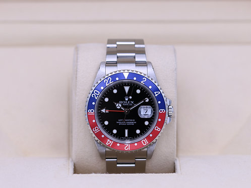 Rolex GMT Master II Pepsi 16710 - M Serial 3186 Movement - Box & Papers