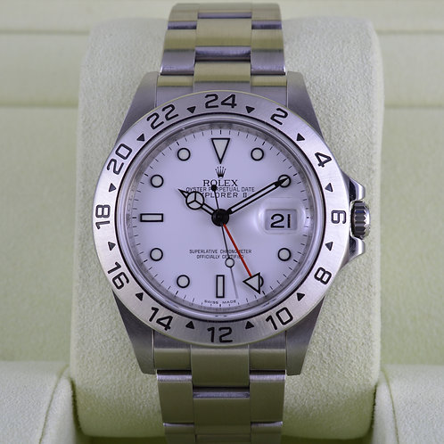 Rolex Explorer II 16570 White Dial 3186