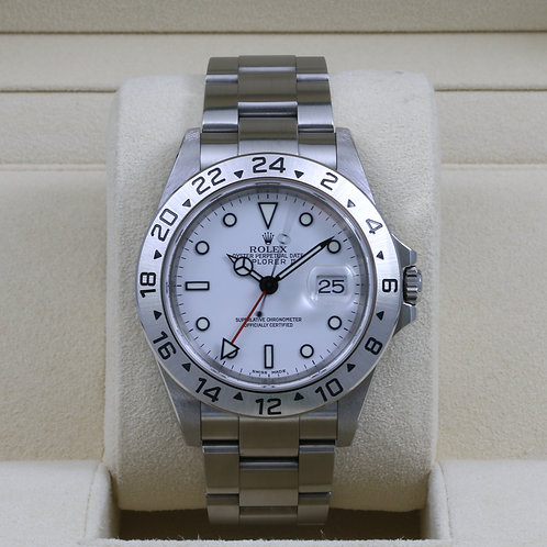 Rolex Explorer II 16570 White Dial - Y Serial Holes Case & SEL - Box & Papers