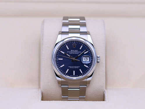 Rolex DateJust 36 126200 Oyster Blue Dial - 2019 Box & Paperss